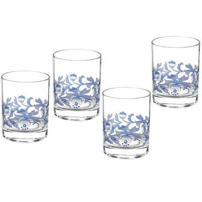 Spode Blue Italian Tumbler Glass Set of 4