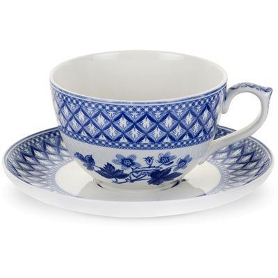 Spode Blue Room Jumbo Cup & Saucer Geranium