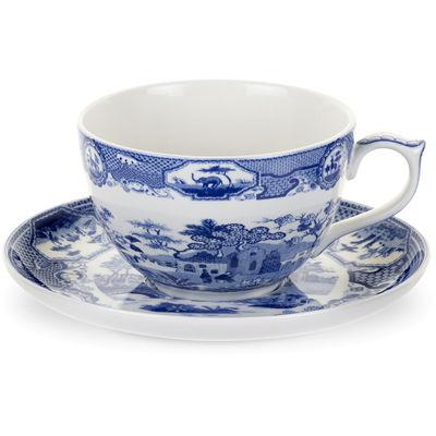 Spode Blue Room Jumbo Cup & Saucer Gothic Castle