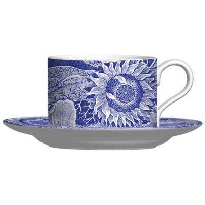 Spode Blue Room Sunflower Teacup & Saucer