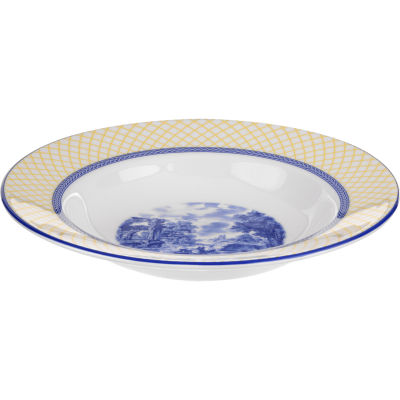 Spode Giallo Rimmed Soup Plate 23cm Louis Potts