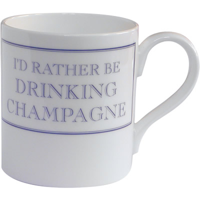 Stubbs Mugs I'd Rather Be Drinking Champagne Mug Small