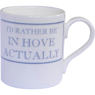 Stubbs Mugs I'd Rather Be In Hove Actually Mug Small