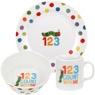 The Very Hungry Caterpillar 3-Piece Dinner Set Counting 123