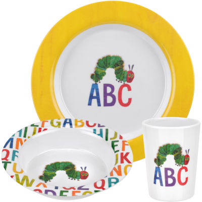 The Very Hungry Caterpillar 3-Piece Melamine Set Alphabet