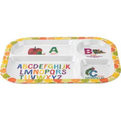 The Very Hungry Caterpillar Divided Melamine Plate Alphabet