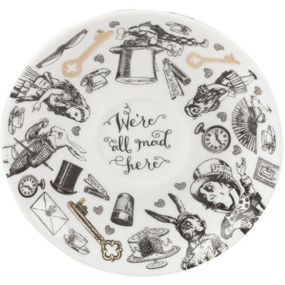 Victoria and Albert Museum Alice In Wonderland Espresso Cup & Saucer
