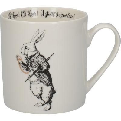Victoria and Albert Museum Alice In Wonderland Mug Can White Rabbit