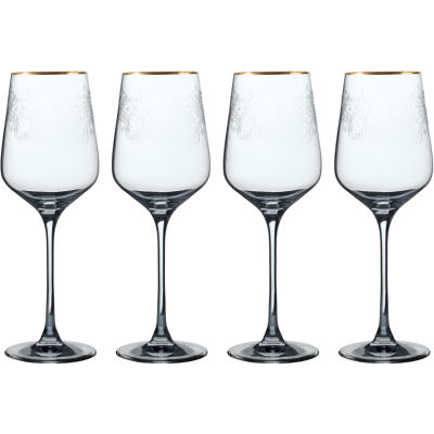 Victoria and Albert Museum The Cole Collection Red Wine Glass Set of 4