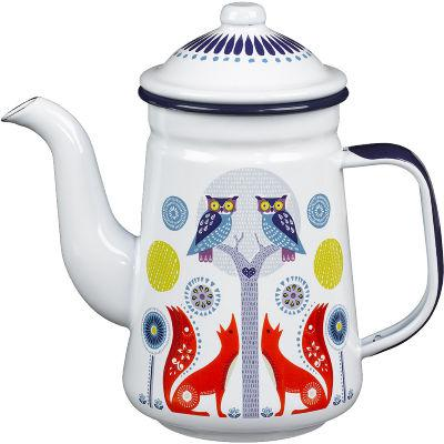 Wild and Wolf Folklore Coffee Pot White Night & Day
