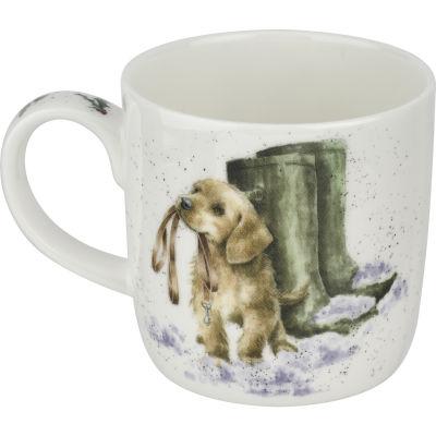 Wrendale Christmas Boxing Day Walk Dog Mug