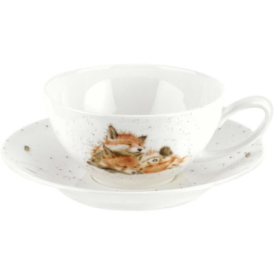 Wrendale Cappuccino Cup & Saucer Foxes