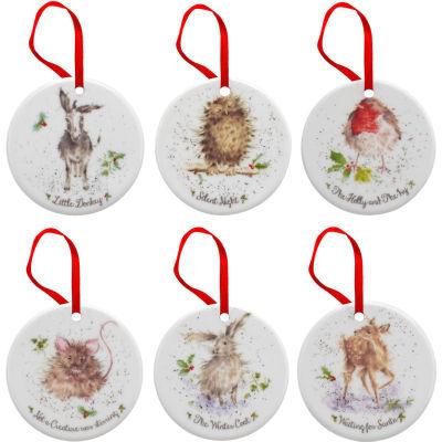 Wrendale Christmas Decoration Set of 6