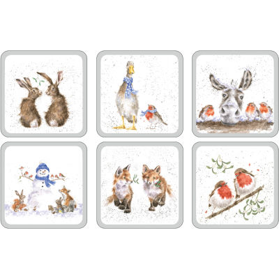 Wrendale Coaster Set of 6 Wrendale Christmas