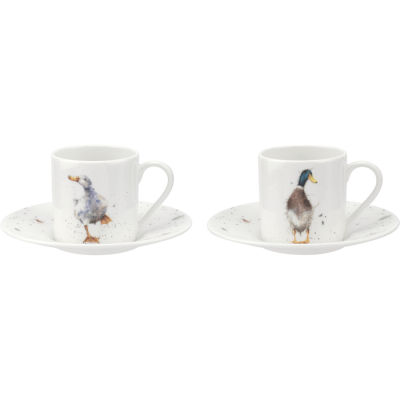 Wrendale Coffee Cup & Saucer Set of 2