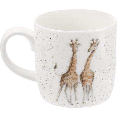 Wrendale Giftware First Kiss Giraffe Mug