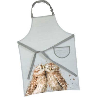 Wrendale Giftware Apron Cotton Drill Owl