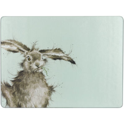 Wrendale Glass Worktop Saver Hare