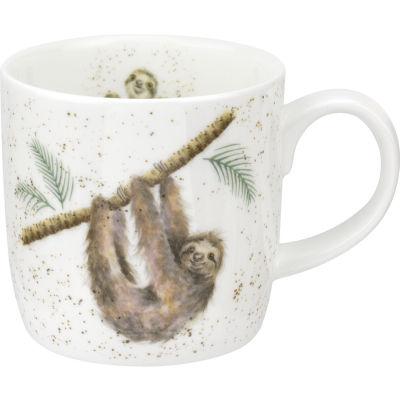 Wrendale Hanging Around Sloth Mug