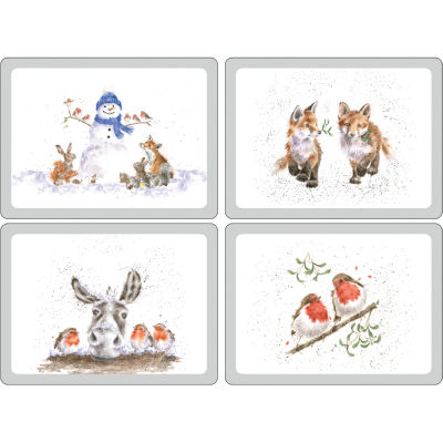 Wrendale Christmas Placemat Large Set of 4 Wrendale Christmas