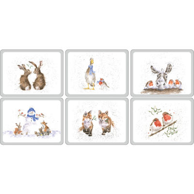 Wrendale Christmas Placemat Set of 6 Wrendale Christmas