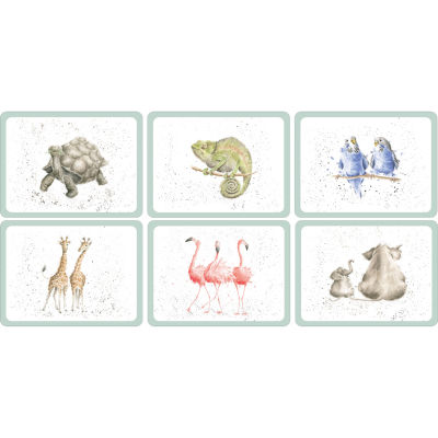 Wrendale Placemat Set of 6 Wrendale Zoological
