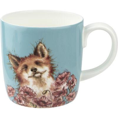 Wrendale Giftware Poppy Field Fox Large Mug