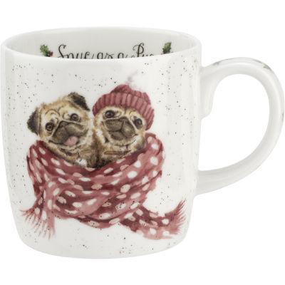 Wrendale Christmas Snug As A Pug Dog Mug