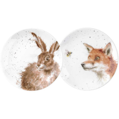 Wrendale Fox & Hare Tea Plate Set of 2