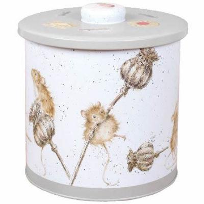 Wrendale Tinware Biscuit Barrel Mice