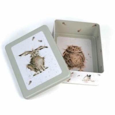 Wrendale Tinware Rectangular Tin Hare