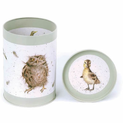 Wrendale Tinware Round Canister Birds