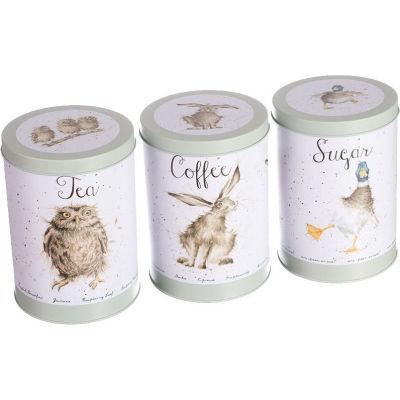 Wrendale Tinware Tea, Coffee & Sugar Canister II Set of 3